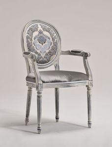 LUIGI XVI armchair 8023A, Silla cabecera de la mesa, estilo Luis XVI, personalizable