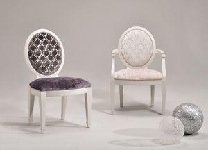 LUNA armchair 8269A, Silla con reposabrazos adaptable, estilo clásico