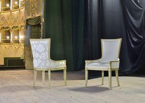 MAEVA sillón 8650A, Sillón acolchado en madera maciza de haya, para la barra histórica
