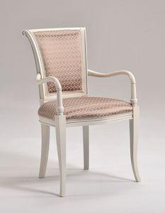 MOLLY armchair 8012A, Estilo clásico Silla acolchada con brazos bien formados