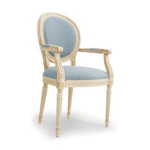 NADIR Art. 1190, Silla lacada con brazos, asiento acolchado