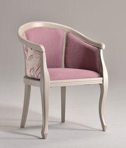 POZZETTO sillón 8032A, Butaca de lujo en madera maciza de haya, para mobiliario naval