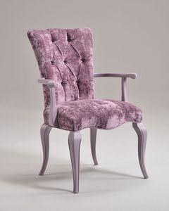 ROYAL armchair 8494A, Sillón con relleno acolchado, estilo clásico de lujo