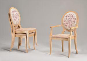 TATI armchair 8084A, Silla apilable con apoyabrazos, asiento acolchado