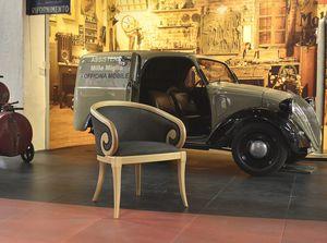 TOFEE armchair 8179A, Sillón tapizado con brazos curvos, de estilo clásico