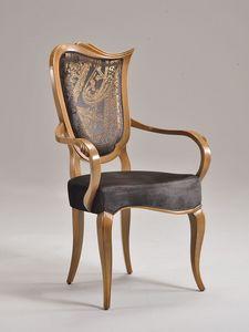 WAVE silla con apoyabrazos 8624A, Silla tapizada, con brazos, para el restaurante de lujo