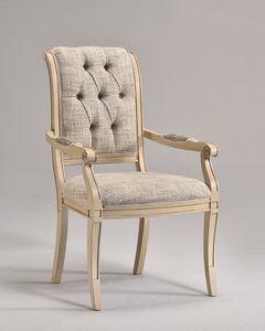 WENDY silla con apoyabrazos 8286A, Silla tradicional con brazos, personalizable