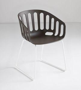 Basket Chair ST, Sillón patín en tecnopolímero
