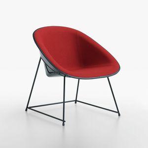 Cup lounge mod. 1960-12, Sillón acolchado