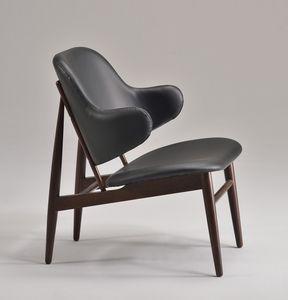 ALMA sillón 8618A, Silla acolchada con líneas modernas, en madera