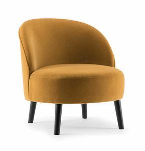 GINGER LOUNGE CHAIR 060 P, Sillón con asiento perfectamente redondo.