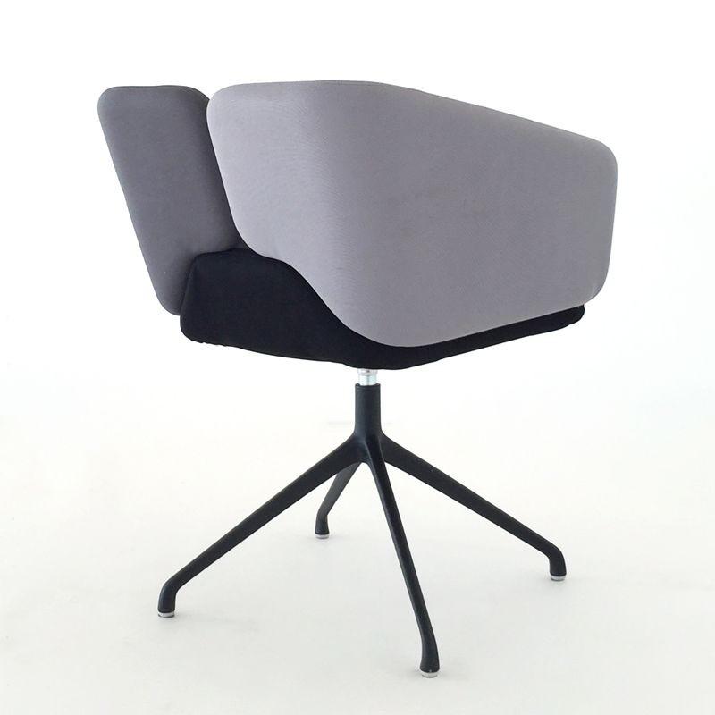 Mixx spider, Pequeño sillón cómodo, colores de tapicería personalizables, para la oficina y el hotel