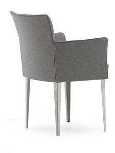 Morgana GC, Sillón tapizado en poliuretano, respaldo flexible