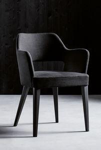 PARIGI P, Sillón con reposabrazos y asiento tapizado