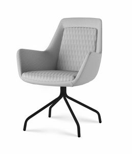 Roxy chair, Sillón con base de metal personalizable