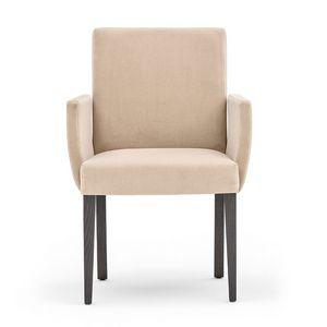 Zenith 01631, Sillón con brazos con estructura de madera, asiento y respaldo tapizados, para el uso del contrato