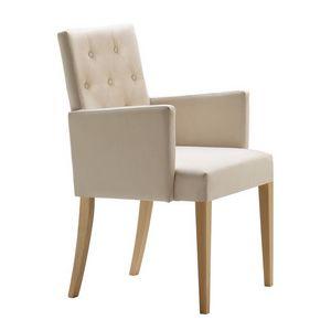 Zenith 01638, Sillón con brazos con estructura de madera, asiento y respaldo tapizados, capitonné espalda, para el uso del contrato
