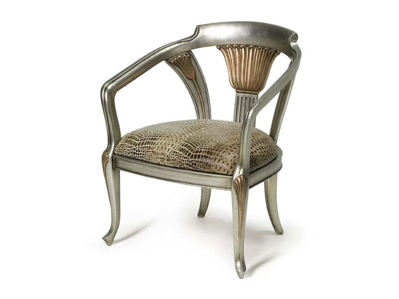 Art.122 armchair, Sillón de estilo clásico, rellenado con correas elásticas