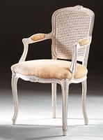 Art. 1430, Cabeza de la silla de la mesa, en estilo clásico, apoyabrazos acolchados