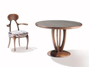 Art.243 armchair, Silla con respaldo y apoyabrazos de madera