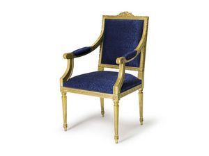 Art.442 armchair, Sillón de estilo Luis XVI, madera tallada a mano