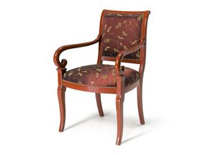 Art.467 armchair, Sillón de estilo clásico, asiento acolchado y respaldo