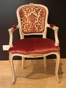 Art. 832, Sillón clásico para el hogar, madera lacada antigua