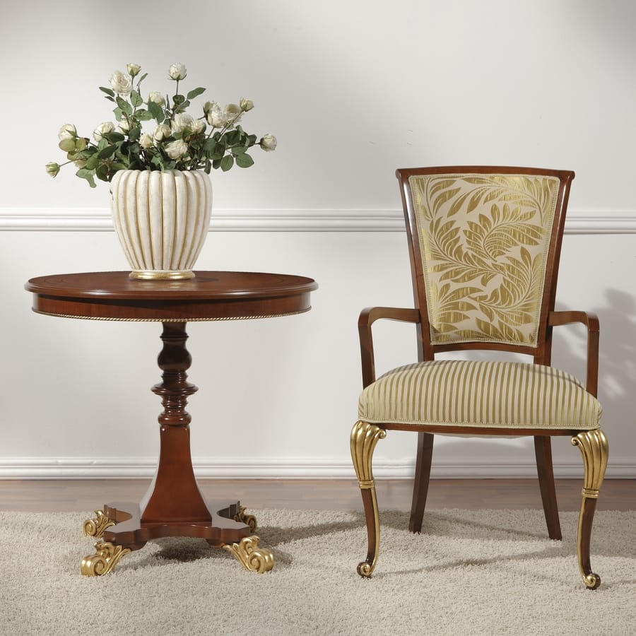 C moda silla de comedor con reposabrazos idfdesign for Sillas con reposabrazos