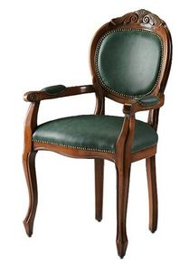 Bibbona ME.0987, La cabeza de la silla de la mesa en madera de haya, redondear la espalda
