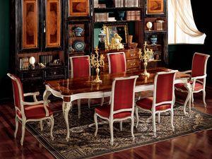 Display armchair 838 P, Sillón para el comedor, de estilo clásico