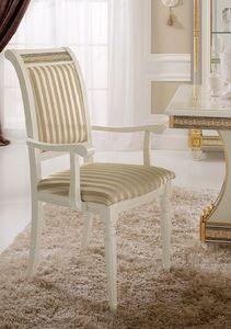 Liberty silla con brazos, Silla con brazos, con un diseño clásico, la decoración de hojas de oro preciado