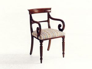 Mr. Morris, Jefe de la silla de la mesa, clásico, de estar acolchado, estructura de madera