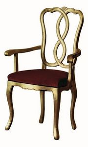 Pisanello RA.0988, La cabeza de la silla de mesa en madera de nogal, para hoteles y restaurantes