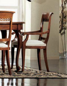 Settecento cabeza de la silla de la mesa, Cabeza de la silla de la mesa, rellena, con tallas clásicas