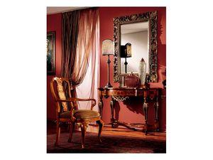 Venezia armchair 816, Silla acolchada clásico con apoyabrazos