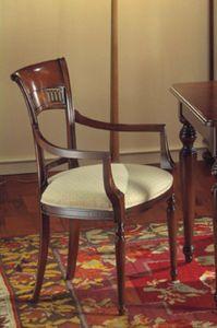 Voltaire  silla de la cabeza de la mesa, Cabeza de la silla de la mesa, satinado con cera, para Ristorants