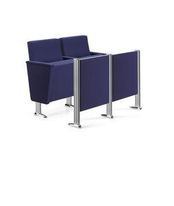ARAN 583, Sillas con asientos plegables para teatros, auditorios y salas de conferencias