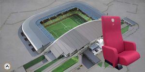 Asientos del estadio, Sillones con plegable asiento con calefacción, para estadios