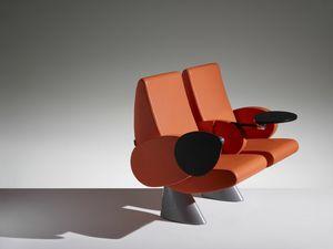 TULIP, Sillón de auditorio con reposabrazos y asiento reclinable