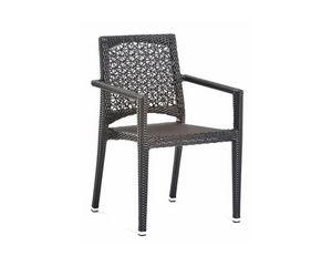 Altea silla con los brazos, Silla para exteriores con reposabrazos, el tejido en fibra sintética