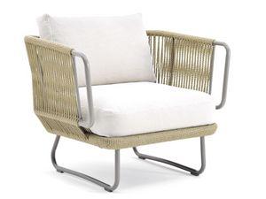 Babylon sillón, Sillón cubierto en cuerda sintética, para el aire libre