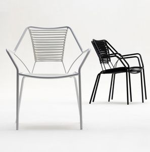 Knit Knot new armchair, Sillón de exterior, tejido en cuerda náutica, elegante pero ligero