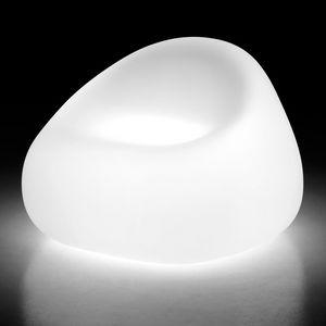 LT SOFA / 1P, Sillón de exterior en policarbonato, luz interior