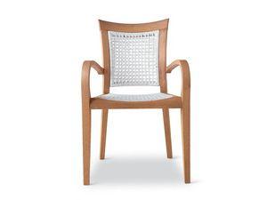 Mirage sillón - polipropileno, Sillón de madera y polipropileno, para el aire libre