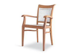 Newport sillón - polipropileno, Silla ergonómica de madera para jardines y piscinas