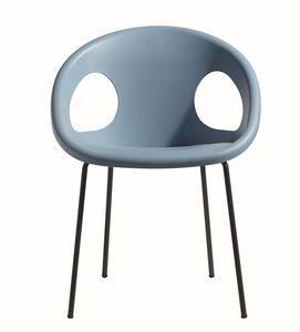 PL 2682.EST, Silla apilable, asiento de plástico, para su uso al aire libre