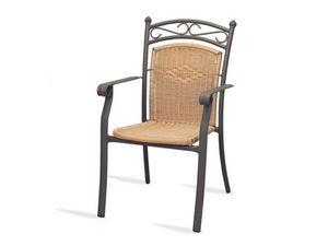 PL 406, Silla con apoyabrazos, tejido, para hoteles y restaurantes