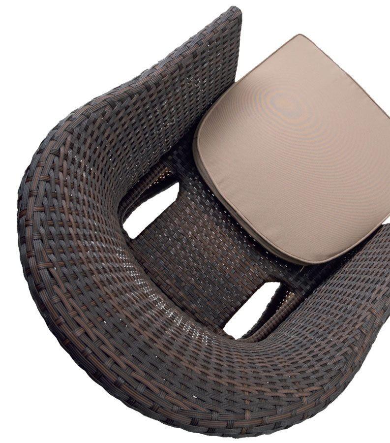 PL 776M, Sillón moderno en el PVC tejida, para bares