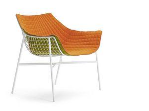 Summer set sillón largo, Salón sillón, en la barra de acero, acolchado, para el aire libre