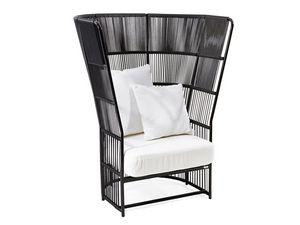 Tibidabo alta sillón, Sillón con respaldo alto, tejido, para uso en exteriores